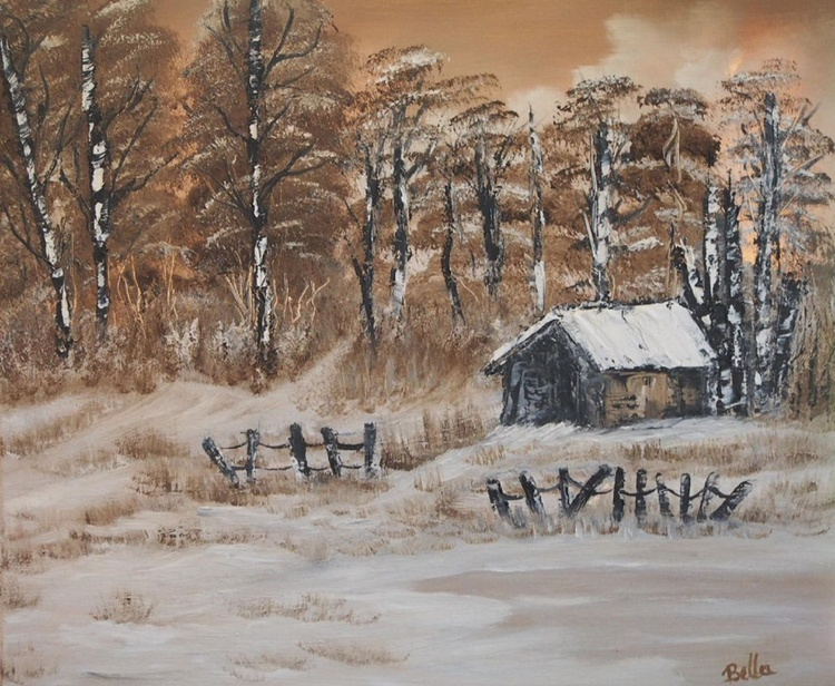 Cabin in the snow.. - Image 0