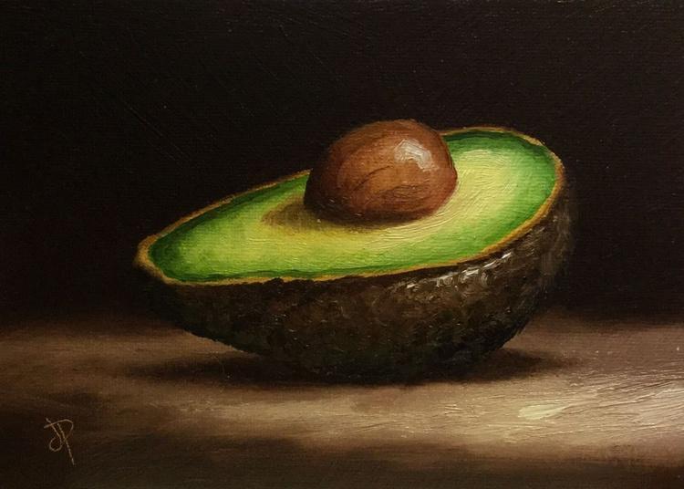 Avocado half 5x7 - Image 0