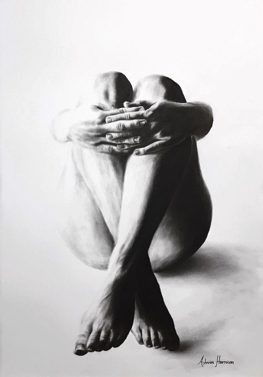 Nude Woman Charcoal Study 28 - Image 0