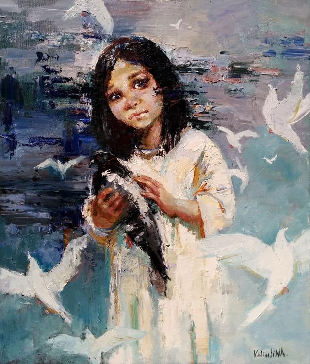 """Say No to War"" Original Oil Painting - Image 0"