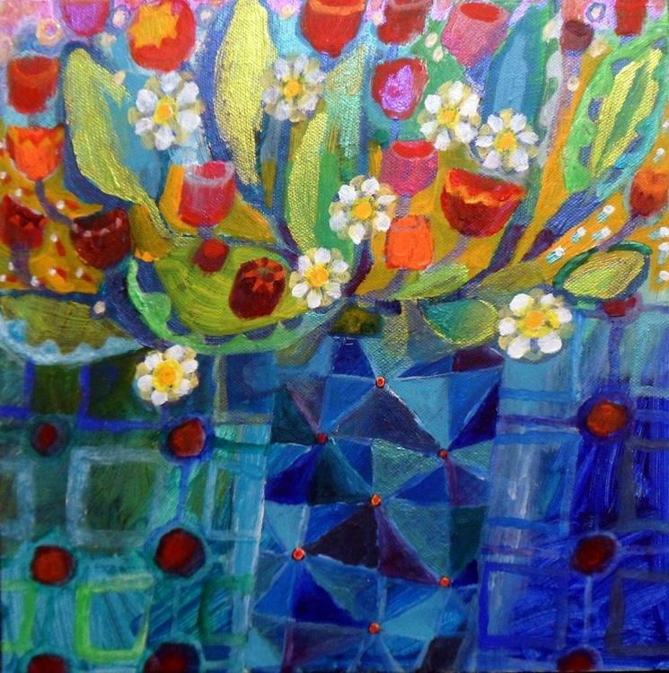 The Blue Mosaic Vase - Image 0