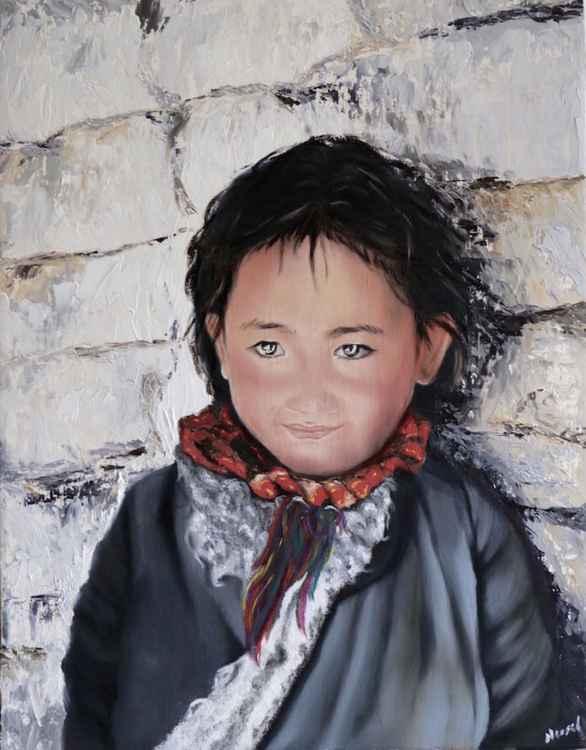 Pure, Portrait of a Nepali Child -