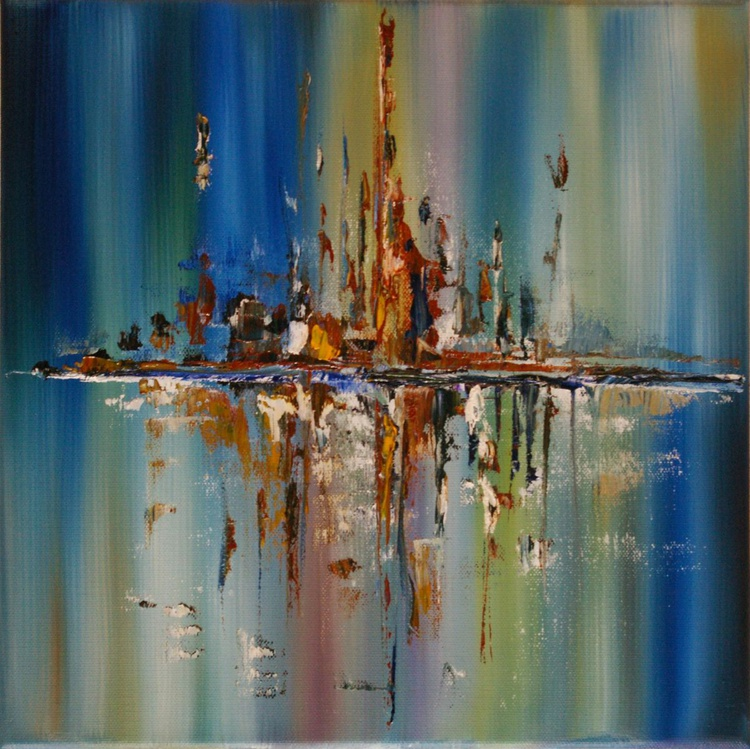 Division - Abstract oil Painting - Image 0