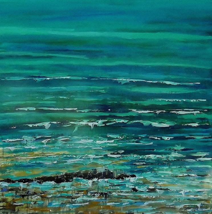 'Warm Seas, Late Summer' Large Canvas - Image 0