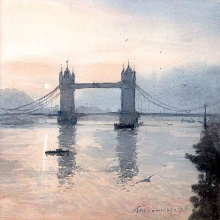 Tower Bridge in the Morning Mist