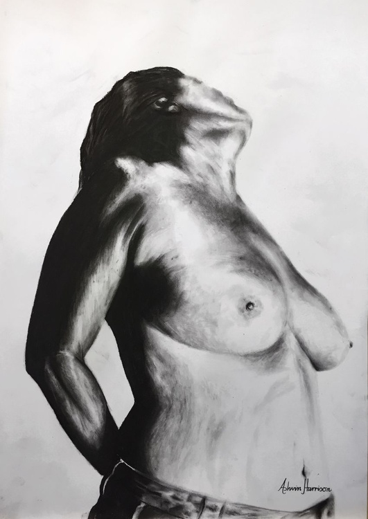 Nude Woman Charcoal Study 20 - Image 0