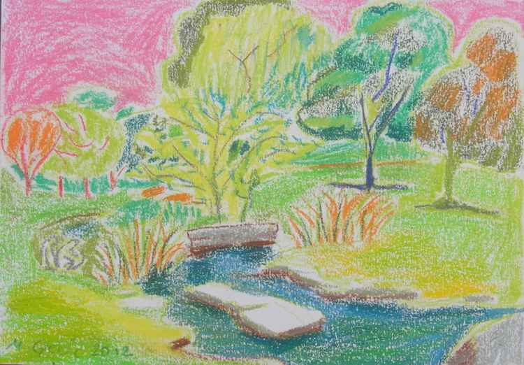 Summer in St Fagans - drawing