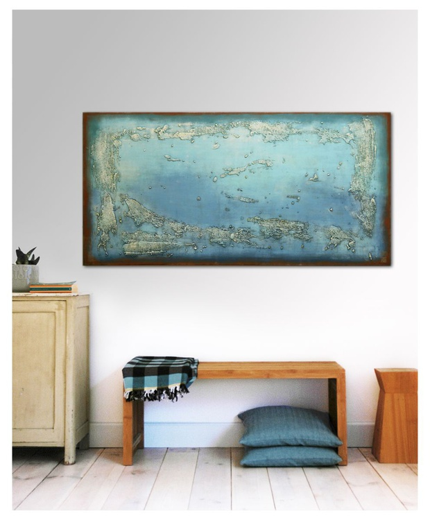 Abstract Painting - Once Turquoise - B16 - Image 0