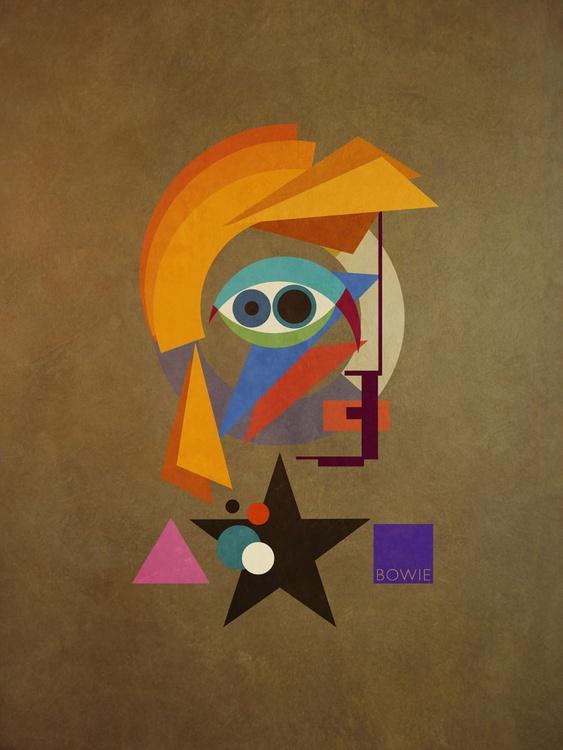 David Bauhaus (Ziggy) - David Bowie Portrait, A1 Edition of only 20 - Image 0