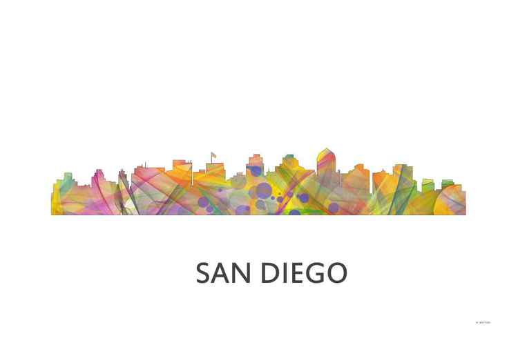 San Diego California Skyline WB1 -