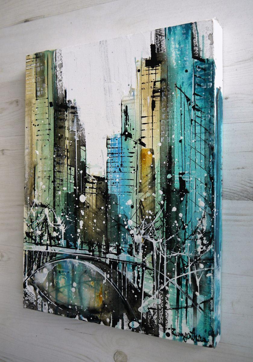 New York Skyline Abstract 2016 Acrylic Painting By Irina