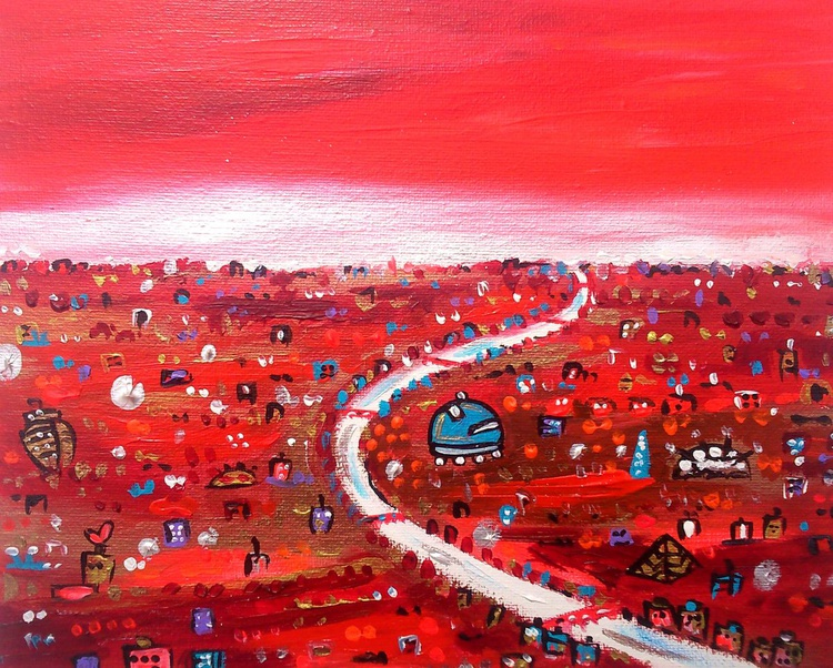Beautiful Bright Red City - Image 0