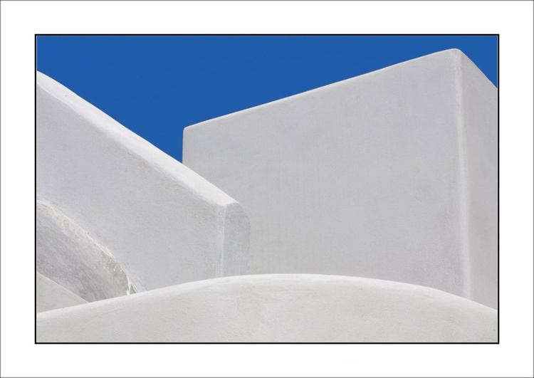 From the Greek Minimalism series: Greek Architectural Detail (Blue and White) # 11, Santorini, Greece - Image 0