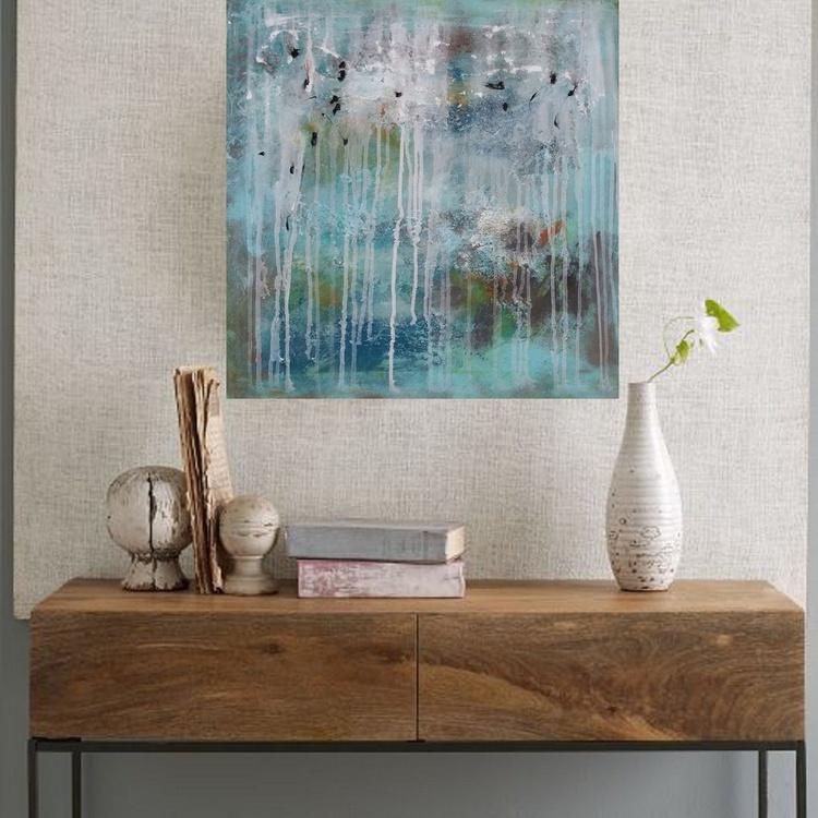 24x24''(60x60cm), Fearless 3, Landscape Modern Urban Art Office Art decor Home Decor - Image 0