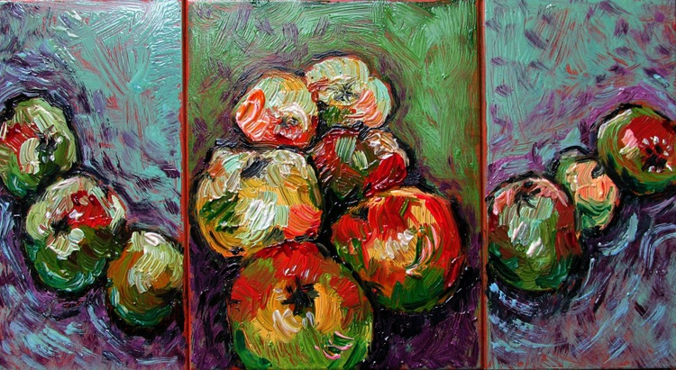 Apples, small triptych - Image 0