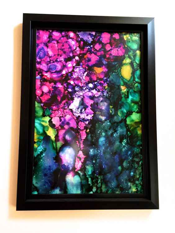 Ocean Floral - Framed - Large Original One-of-a-Kind