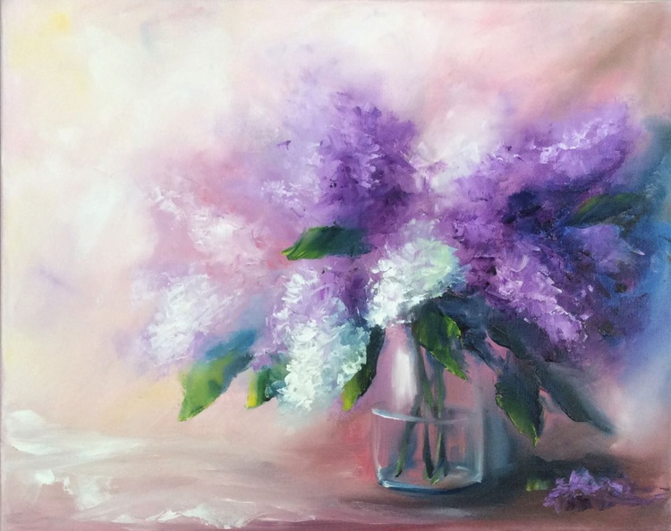 """Flower painting """"Lilacs"""" - Image 0"""