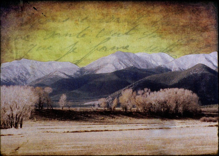 Mountains I, Mixed Media Miniature Art - Image 0