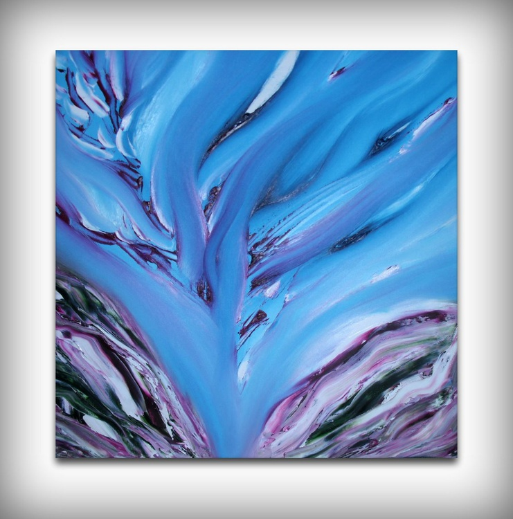 Sinous torment - 50x50 cm, Original abstract painting, oil on canvas - Image 0