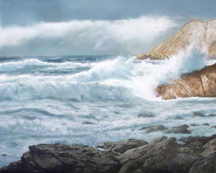 Breezy day at Carmel Head ,Anglesey -