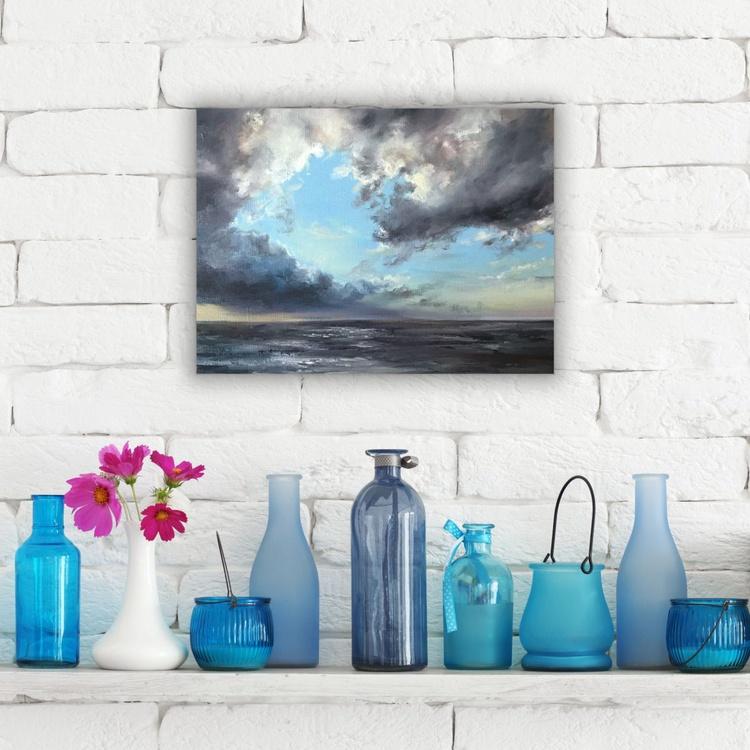 Original artwork Abstract seascape, Sunset, Seaside - Image 0