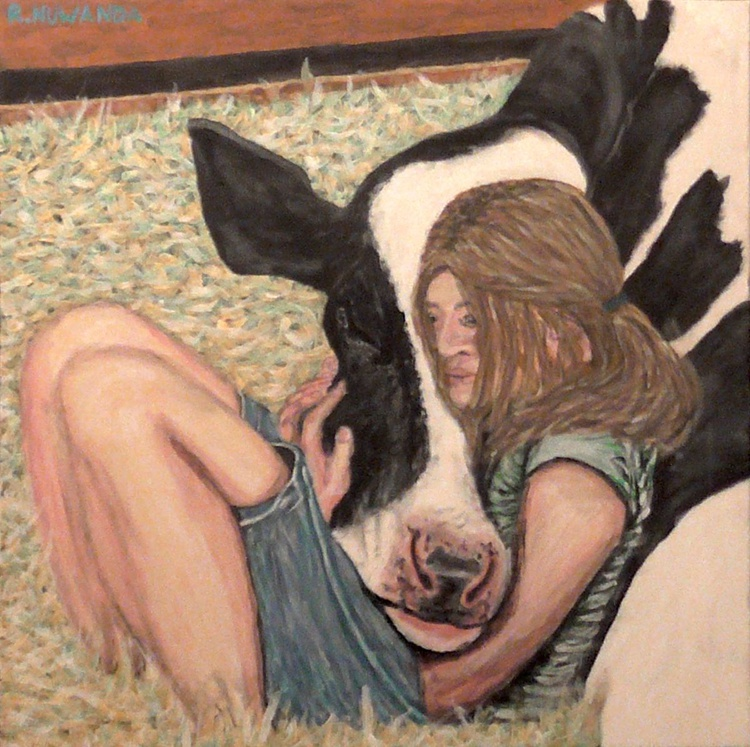 Cow And Her Girl - Image 0