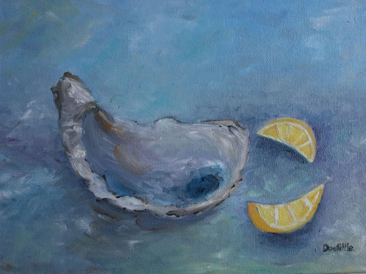 Oysters & Lemons Oil Painting - Image 0