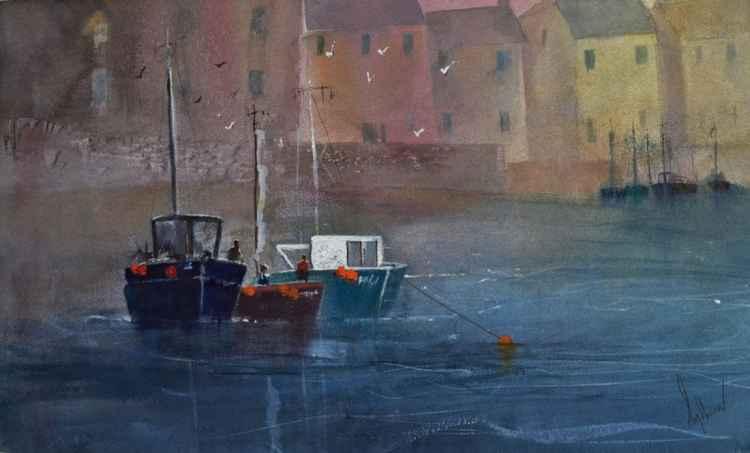 Harbours #1 - Original Watercolour Painting