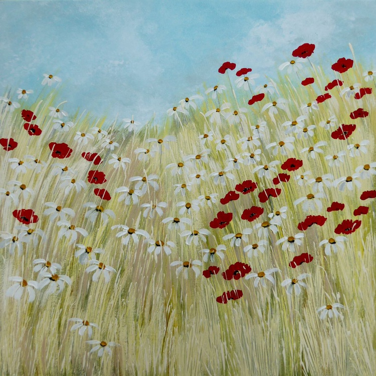 Poppies and Daisies - Image 0