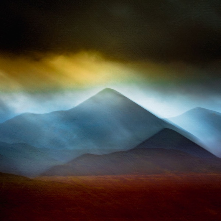 Cuillin Storm -  Extra large Abstract 40 x 40 inch CANVAS  No 3/10 with Free Shipping - Image 0