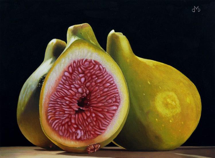 Three Green Figs - Image 0
