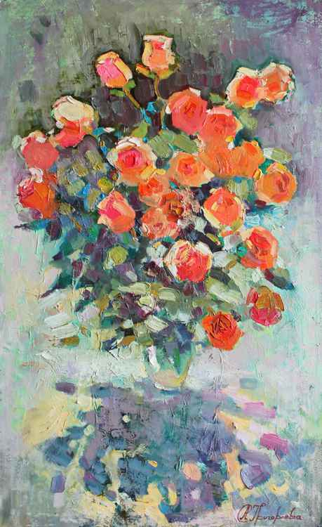 Coral roses -