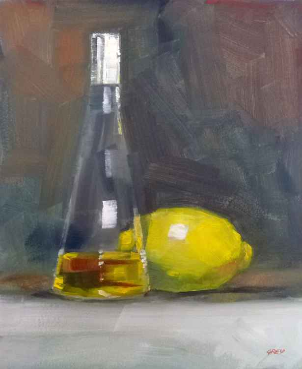 Olive oil and lemon -