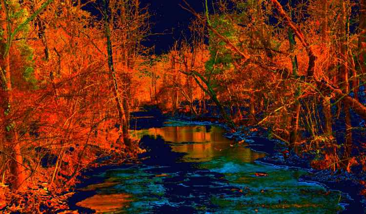 Blue Creek with Orange -