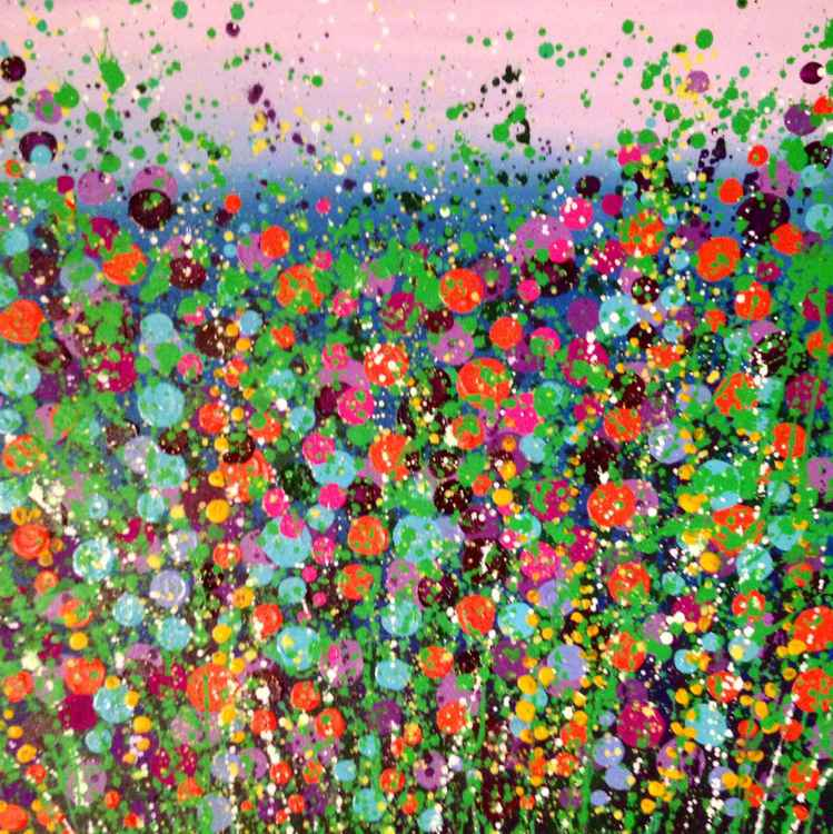 Fluro Flower Field -