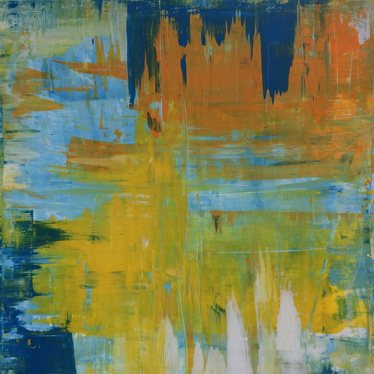 Walking on Sunshine 1 - 50x50 Large Art Abstract Painting Modern - Image 0