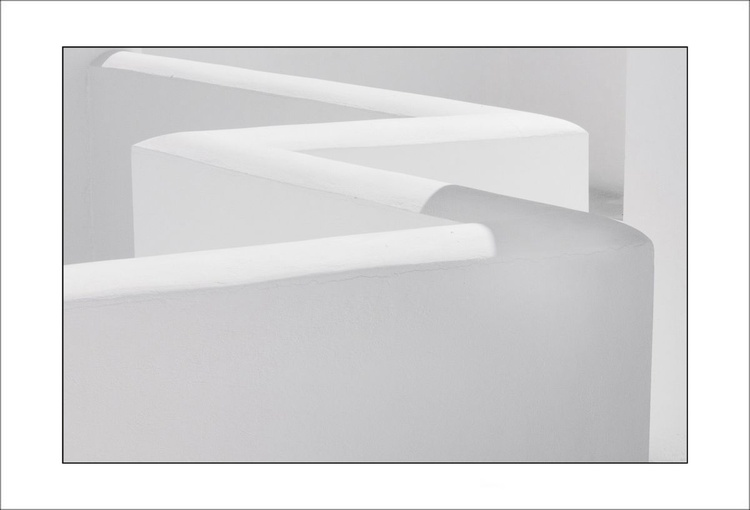 From the Greek Minimalism series: Greek Architectural Detail (White and White) # 1, Santorini, Greece - Image 0