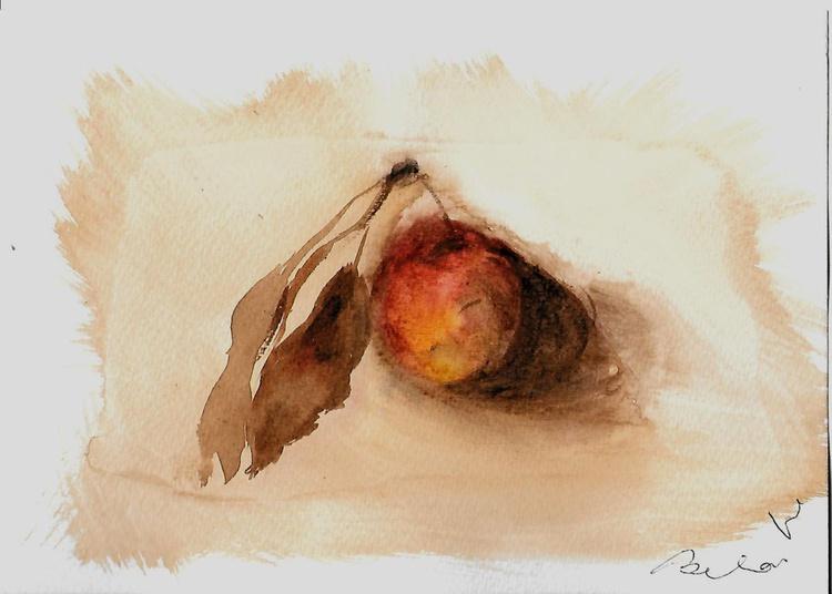 Still Life #17: Apple, 21x15 cm - Image 0