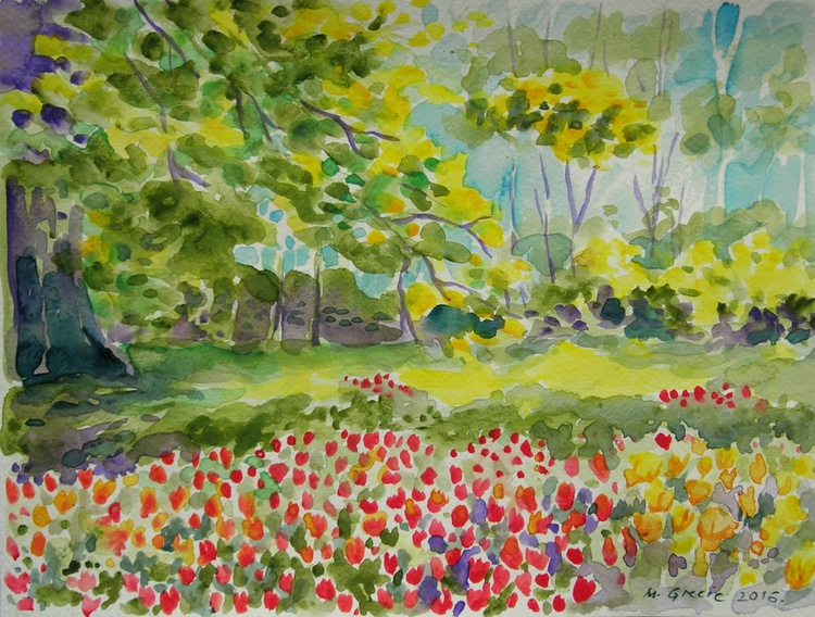 Tulips and trees - Image 0