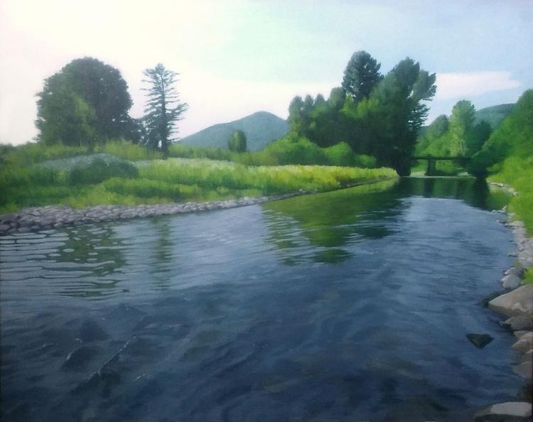 Knjazevac Landscape-Original acrylic painting - Image 0