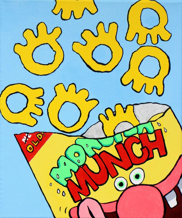 Monster Munch Pop Art Painting On Canvas - Image 0