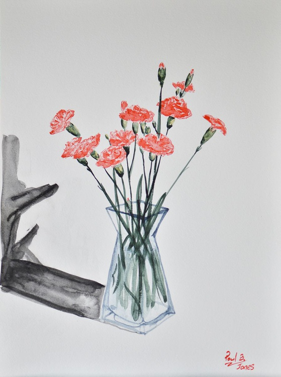Carnations in a vase No. 1 - Image 0