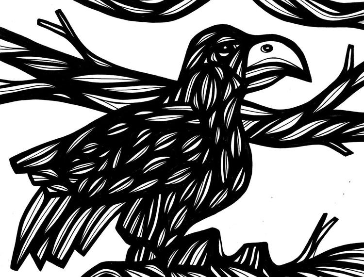 Luminous Bird Original Drawing - Image 0