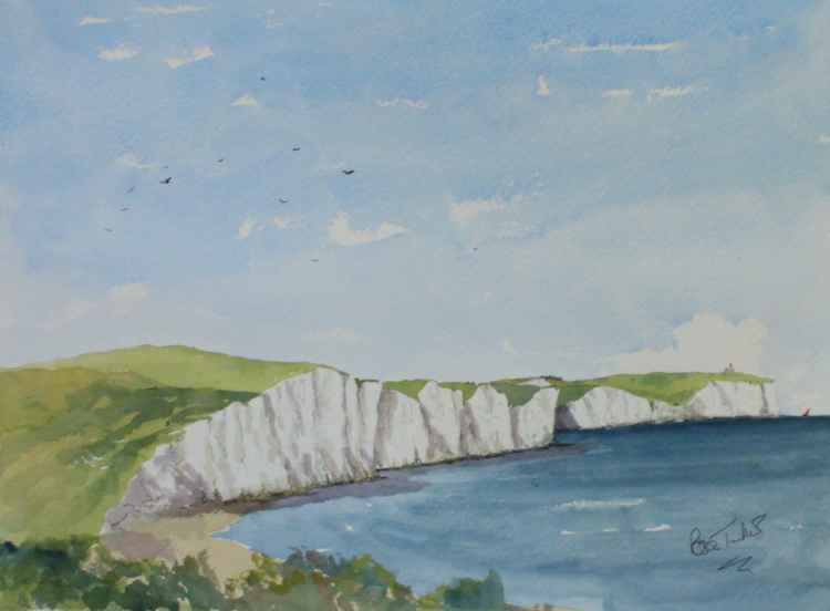 The Seven Sister Cliffs near Seaford in Sussex -