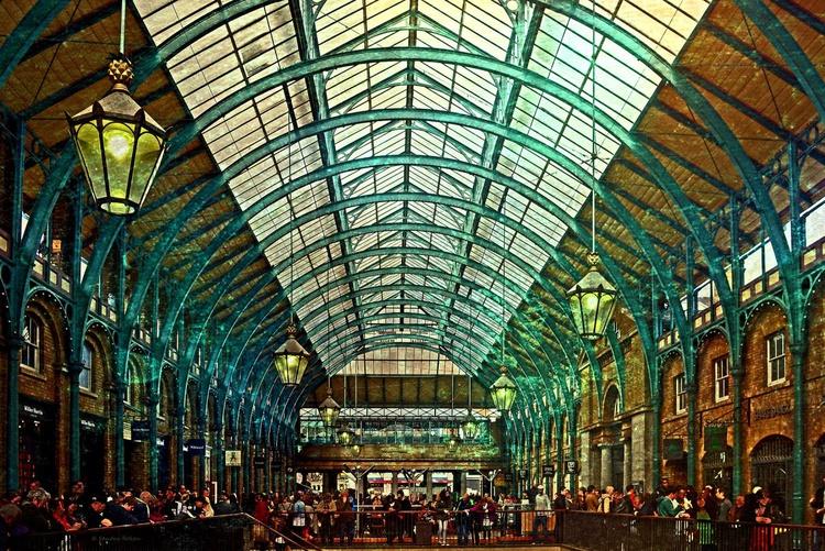 Covent Garden / London -  Canvas 75 x 50 cm - Image 0