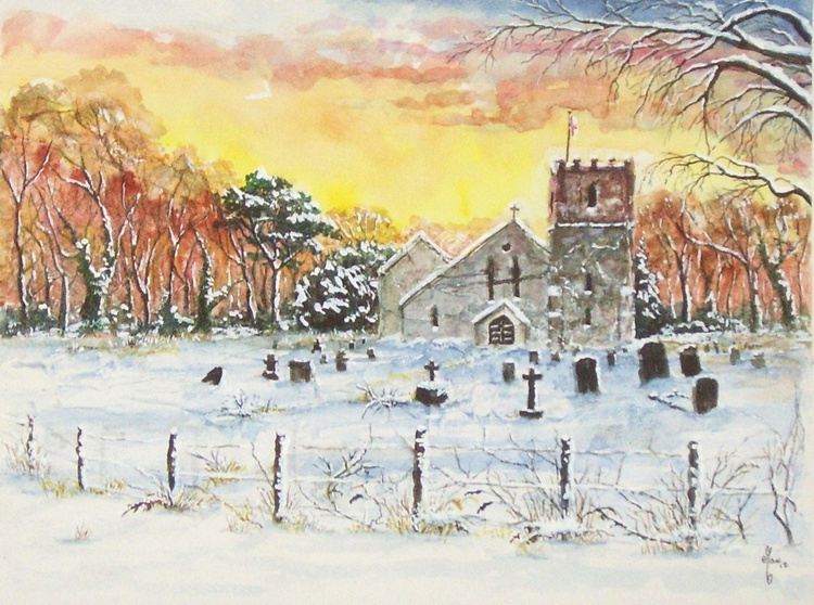 Church with Snow - Image 0