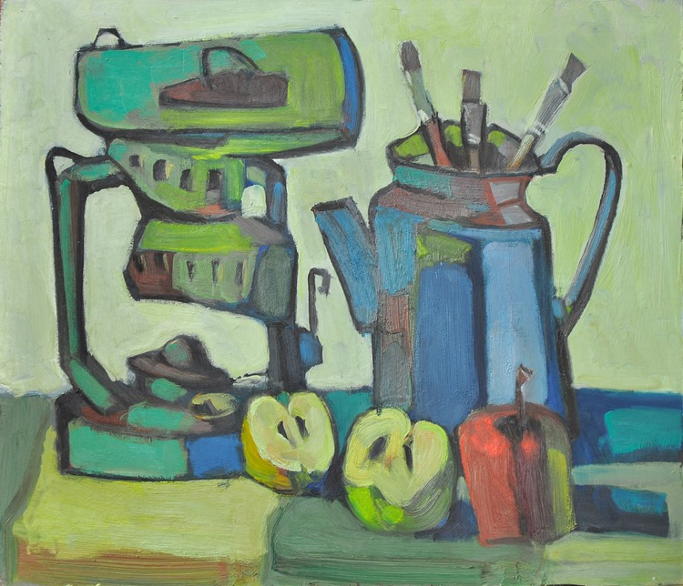 Still Life with lamp - Image 0