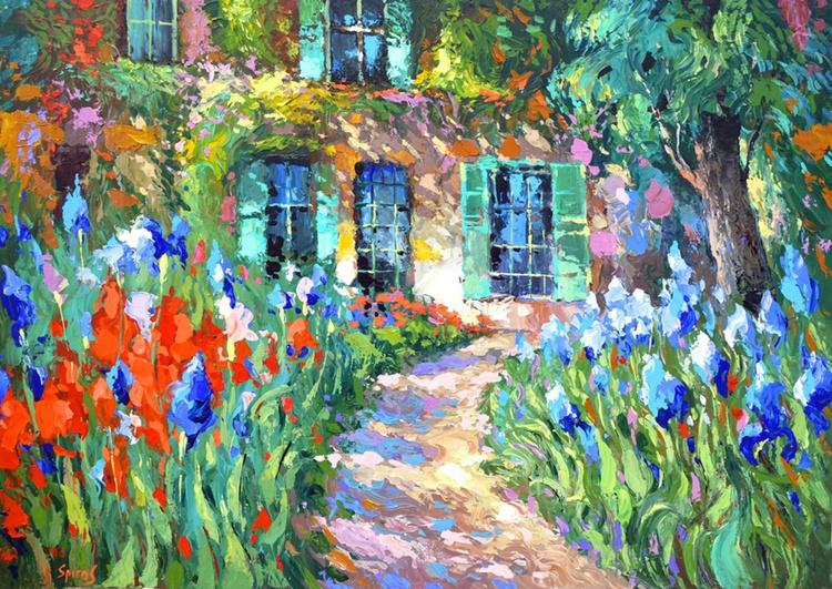Irises near the House by Dmitry Spiros - Image 0