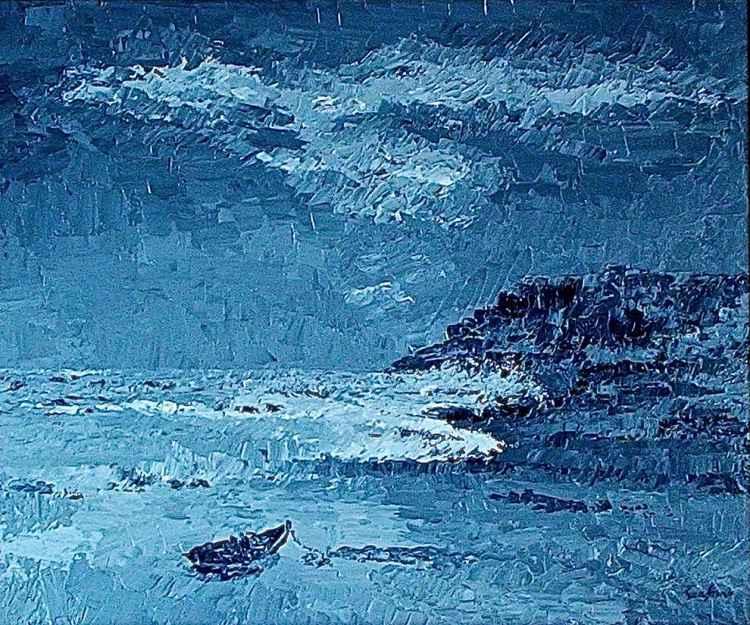 Riviera di Camogli in tempesta -