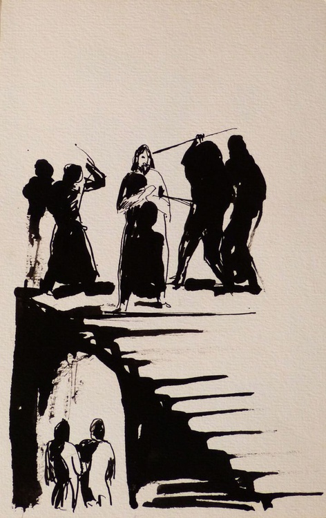 Flagellation, 15x25 cm - Image 0